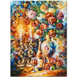 """Leonid Afremov (1955-2019) """"Shabbat"""" Limited Edition Giclee on Canvas, Numbered and Signed. This pie"""