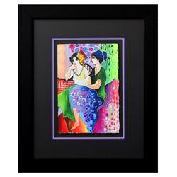 """Patricia Govezensky- Original Watercolor """"Mila & Liv"""""""