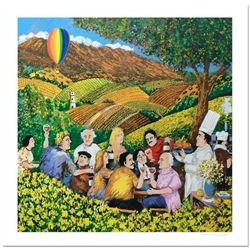 """Guy Buffet, """"Napa Valley Mustard Festival"""" Limited Edition Serigraph; Numbered and Hand Signed with"""