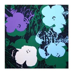 "Andy Warhol ""Flowers 11.64"" Silk Screen Print from Sunday B Morning."