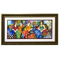 "Patricia Govezensky- Original Watercolor ""Brunch in Hollywood"""