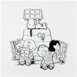 """Peanuts, """"Down Time"""" Hand Numbered Limited Edition 3D Decoupage with Certificate of Authenticity."""