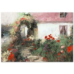 """Pino (1939-2010), """"Colorful Archway"""" Artist Embellished Limited Edition on Canvas (38"""" x 26""""), CP Nu"""