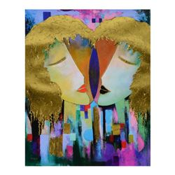 """Arbe, """"Duality"""" Limited Edition on Canvas with Gold Embellishing, Numbered and Hand Signed with Cert"""
