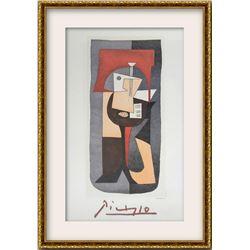 """Pablo Picasso- Lithograph on Arches Paper """"Guitare et Partition"""""""
