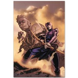 """Marvel Comics """"Hawkeye: Blindside #4"""" Numbered Limited Edition Giclee on Canvas by Mike Perkins with"""