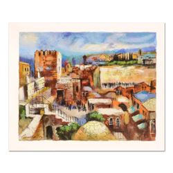 """Slava Brodinsky, """"Jerusalem"""" Limited Edition Serigraph, Numbered and Hand Signed with Certificate of"""