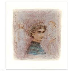 """""""Matthew"""" Limited Edition Lithograph by Edna Hibel, Numbered and Hand Signed with Certificate of Aut"""