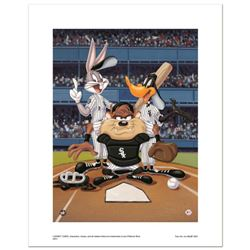 """""""At the Plate (White Sox)"""" Numbered Limited Edition Giclee from Warner Bros. with Certificate of Aut"""