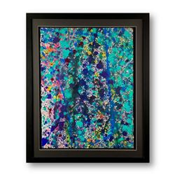 """Wyland, """"Abstract"""" Hand Signed Original Painting on Paper with Letter of Authenticity."""