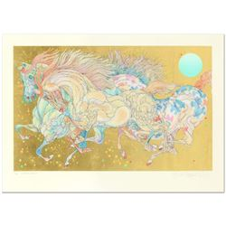 """Guillaume Azoulay- Serigraph on paper with hand laid gold leaf """"Stardust"""""""