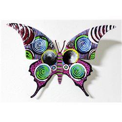 "Patricia Govezensky- Original Painting on Cutout Steel ""Butterfly CXC"""