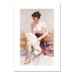 """Pino (1931-2010), """"White Lace"""" Limited Edition on Canvas, Numbered and Hand Signed with Certificate"""