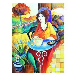 """Patricia Govezensky- Original Watercolor """"Quarter After 3"""""""