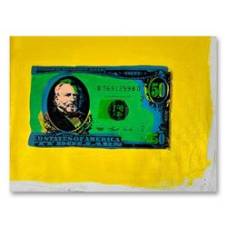 """Steve Kaufman (1960-2010), """"Half Grant"""" Hand Signed and Numbered Limited Edition Hand Pulled silkscr"""