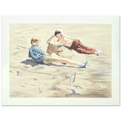 """William Nelson, """"The Beach Combers"""" Limited Edition Serigraph, Numbered and Hand Signed by the Artis"""