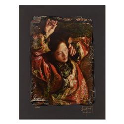 """George Tsui, """"Red Butterfly"""" Limited Edition Chiarograph, Numbered and Hand Signed with Letter of Au"""