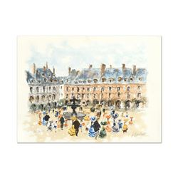 """Urbain Huchet, """"Place des Voyages"""" Limited Edition Lithograph, Numbered and Hand Signed."""