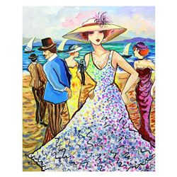 "Patricia Govezensky- Original Acrylic on Canvas ""Beach Party"""