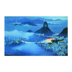 "H. Leung, ""Rio at Dusk"" Limited Edition on Canvas, Numbered and Hand Signed with Letter of Authentic"