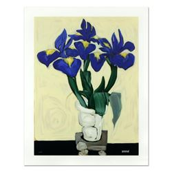 "Brenda Barnum, ""Irises"" Limited Edition Serigraph, Numbered and Hand Signed with Certificate of Auth"