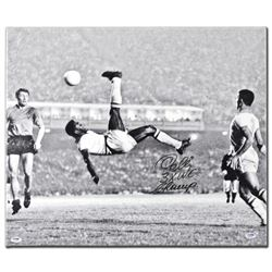 """Scissor Kick"" Autographed Print on Gallery Wrapped Canvas, Hand Signed by Legendary Brazilian Footb"