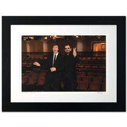 """""""Paul McCartney & Ringo Starr"""" Limited Edition Giclee by Rob Shanahan, Numbered and Hand Signed with"""