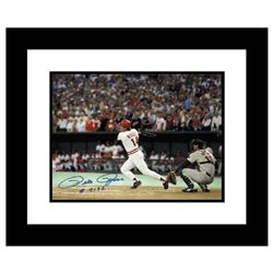 """""""Pete Rose 4192"""" Framed Archival Photograph Featuring Pete Rose Hitting his Record Breaking Hit, Num"""
