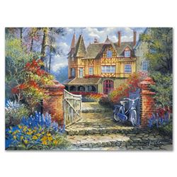 """Anatoly Metlan, """"Castle in the Woods"""" Limited Edition Lithograph, Numbered and Hand Signed with Cert"""