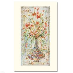 """""""Poinciana Blossoms"""" Limited Edition Serigraph by Edna Hibel (1917-2014), Numbered and Hand Signed w"""