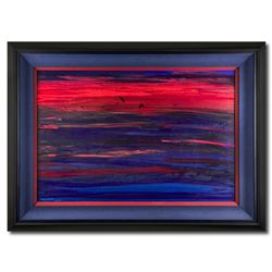 """Wyland, """"North Shore Sunset"""" Hand Signed Original Painting on Canvas with Letter of Authenticity."""