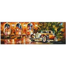 """Leonid Afremov (1955-2019) """"1934 Packard"""" Limited Edition Giclee on Canvas (35"""" x 12""""), Numbered and"""