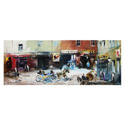 "Shalva Phachoshvili- Original Oil on Canvas ""Old Street"""