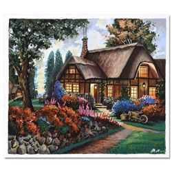 """Anatoly Metlan, """"Country House"""" Limited Edition Serigraph, Numbered and Hand Signed with Certificate"""