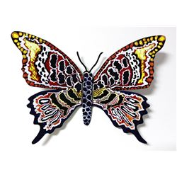 """Patricia Govezensky- Original Painting on Cutout Steel """"Butterfly CLXII"""""""