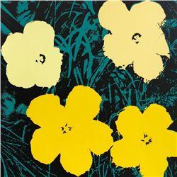 "Andy Warhol- Silk Screen ""Flowers 11.72"""