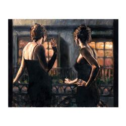 """Fabian Perez, """"Cenisientas Of/Night II"""" Hand Textured Limited Edition Giclee on Board. Hand Signed a"""