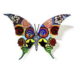 "Patricia Govezensky- Original Painting on Cutout Steel ""Butterfly CLXXXIX"""