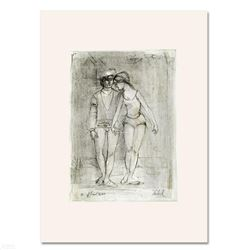 Two Dancers  Limited Edition Lithograph by Edna Hibel (1917-2014), Numbered and Hand Signed with Ce