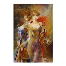 Lena Sotskova,  Stars  Hand Signed, Artist Embellished Limited Edition Giclee on Canvas with COA.