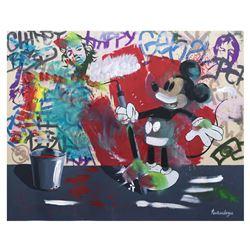 Nastya Rovenskaya- Mixed Media  Mickey's Renovation