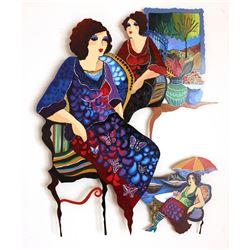 """Patricia Govezensky- Original Painting on Cutout Steel """"Aromas"""""""
