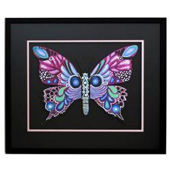 "Patricia Govezensky- Original Painting on Laser Cut Steel ""Butterfly CCXVIII"""
