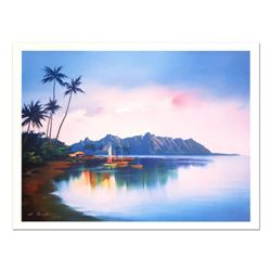 """H. Leung, """"Kaeohe Bay"""" Limited Edition, Numbered and Hand Signed with Letter of Authenticity."""