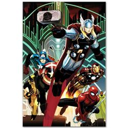 "Marvel Comics ""Avengers #5"" Numbered Limited Edition Giclee on Canvas by John Romita Jr. with COA."