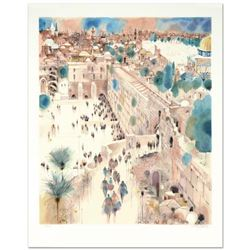 "Shmuel Katz (1926-2010), ""The Wall, Right View"" Limited Edition Serigraph Numbered and Hand Signed."