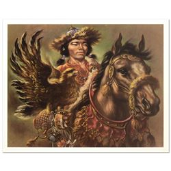 "Virginia Dan (1922-2014), ""Warrior"" Limited Edition Lithograph, Numbered and Hand Signed with Letter"