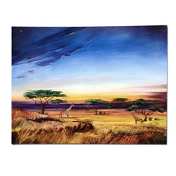 """Africa at Peace"" Limited Edition Giclee on Canvas by Martin Katon, Numbered and Hand Signed. This p"