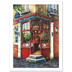 "Anatoly Metlan, ""Bar Brasserie"" Limited Edition Serigraph, Numbered and Hand Signed with Certificate"
