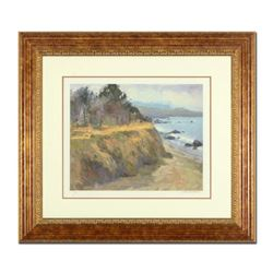 "S. Burkett Kaiser, ""Pacific Bluff"" Framed Limited Edition, Numbered and Hand Signed with Letter of A"